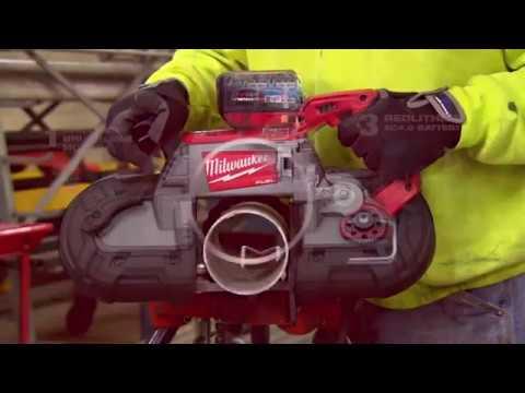 Видео Пила ленточная Milwaukee M18 CBS125-502C FUEL