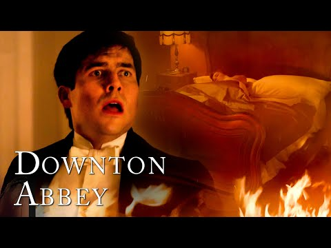 Thomas Saves Edith From The Fire | Downton Abbey