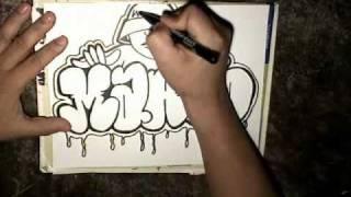 Drawing Marco Throw up and graffiti character- Mr Chino- (Sureno Bang- Instrumental)