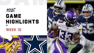 Vikings vs. Cowboys Week 10 Highlights | NFL 2019