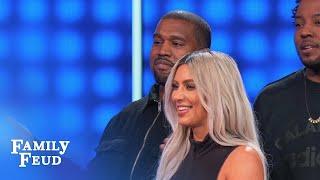 Video Kim & Kanye cry FOUL! | Celebrity Family Feud MP3, 3GP, MP4, WEBM, AVI, FLV Juni 2018