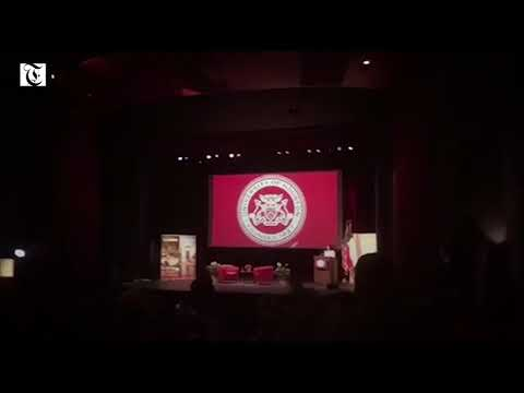Video: Pro-Palestine students heckle Nikki Haley at Houston University