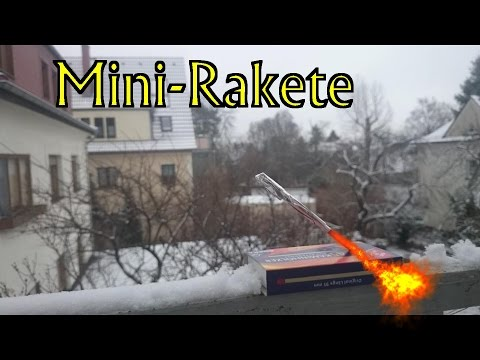 Bastelecke #001: Mini-Rakete selber bauen