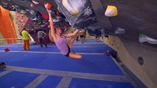 Norea Is Battling A V8 This Bouldering Session! by Eric Karlsson Bouldering