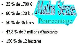 Maths 5ème - Le pourcentage Exercice 6