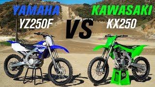 8. 2020 Kawasaki KX250 vs Yamaha YZ250F