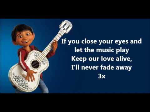 Remember Me Ost Coco (with Lyrics) - Miguel Feat Natalia Lafourcade