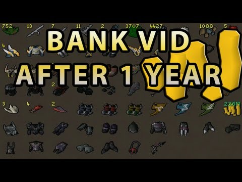 runescape bank - It's been exactly 1 year ago since I made my first bank video on this channel so I thought it would be cool to make another one and see how much it has chang...