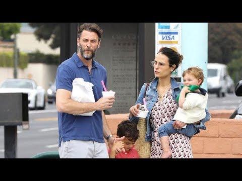 Jordana Brewster And Andrew Form Take The Boys for Frozen Yogurt