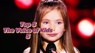 Video Top 5 - The Voice of Kids 5 MP3, 3GP, MP4, WEBM, AVI, FLV Juni 2018