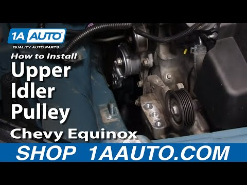 How To Install Replace Upper Idler Pulley Chevy Equinox 3.4L 05-09 1AAuto.com