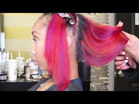 Hair color - Red, Fiery Coral, & Magenta Hair!