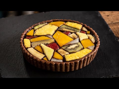Fruits stained glassTart タルトステンドグラス видео