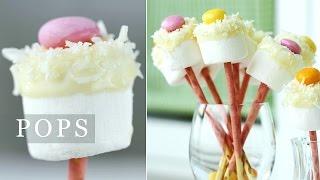 Marshmallow Pops Recipe - 100% Edible Flowers - YouTube