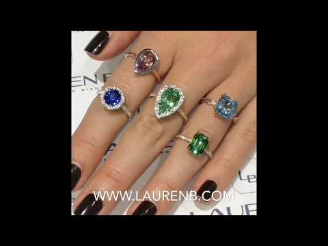 Lauren B Color: Gemstone Rings Collection