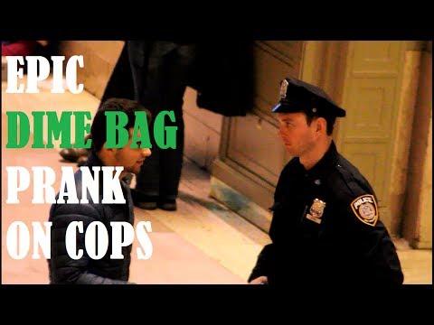 Epic Dime Bag Prank On COPS-White Guy Version (Part 1)