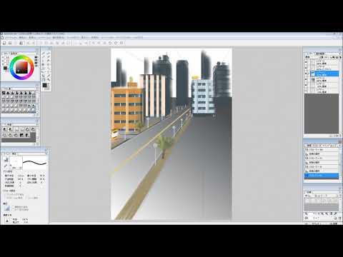 openCanvasの使い方《番外編》四角ブラシで背景試し描き