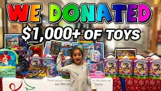 I Donated $1,000 of Toys to Kids | Never Forget Where You Came From