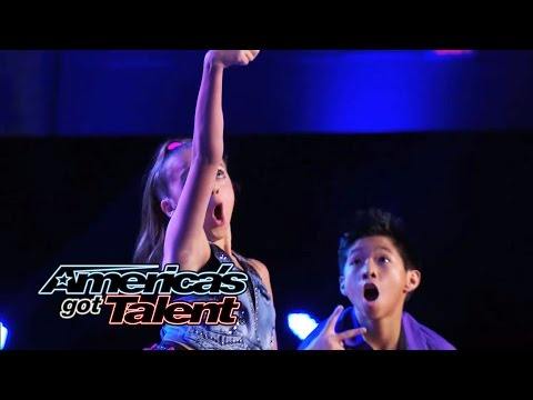 "Kaycee & Gabe: Young Hip-Hop Dance Duo Performs ""#Selfie"" Dance – America's Got Talent 2014"