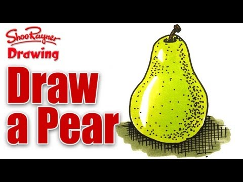 How to draw a pear with stipple shading