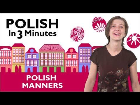 Bitte und Danke auf Polnisch