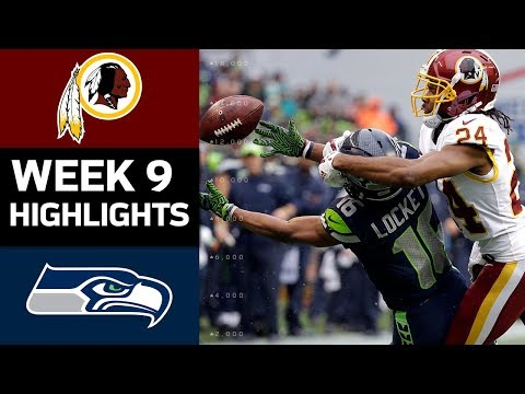 Redskins vs. Seahawks | NFL Week 9 Game Highlights (видео)