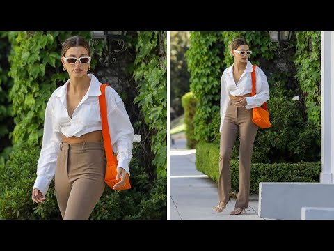 Hailey Baldwin Adds Sexiness To Her Business Chic Attire