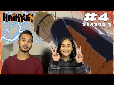"""CROWS VS EAGLE: PREDATOR BECOMES PREY! LET'S GO TSUKI!"" HAIKYUU SEASON 3 EP. 4 BLIND REACTION"