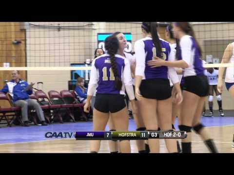 2014 #CAAChamps Volleyball Semifinals -- #2 Hofstra 3, #6 James Madison 0 (видео)