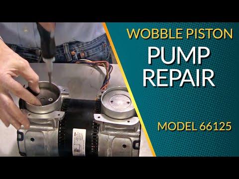 How To Rebuild Wobble Piston AC Vacuum Pump 66125