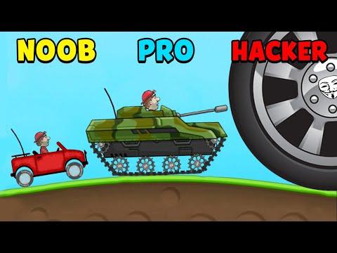 NOOB vs PRO vs HACKER - Hill Climb Racing