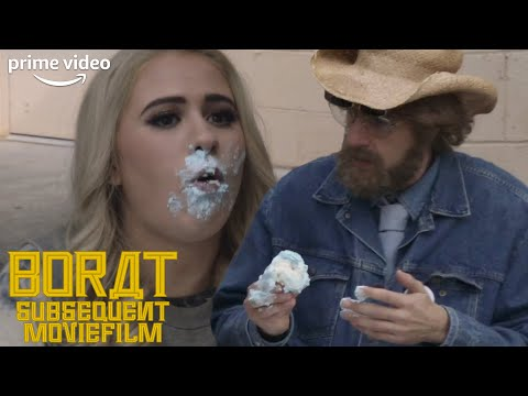 Tutar Accidentally Eats a Baby and Wants to Keep It | Borat: Subsequent Moviefilm | Prime Video
