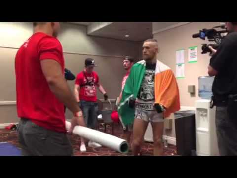 Conor - Conor McGregor taking over Las Vegas, and getting his brown belt after the fight.