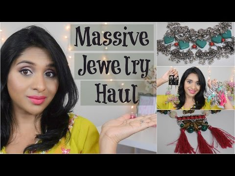 HUGE Jewelry Haul from Sammydress.com   Trendy & Affordable Statement Jewelry