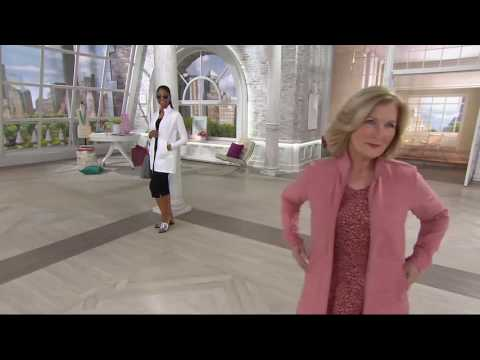 Denim & Co. Active French Terry Zip Front Tunic Jacket on QVC