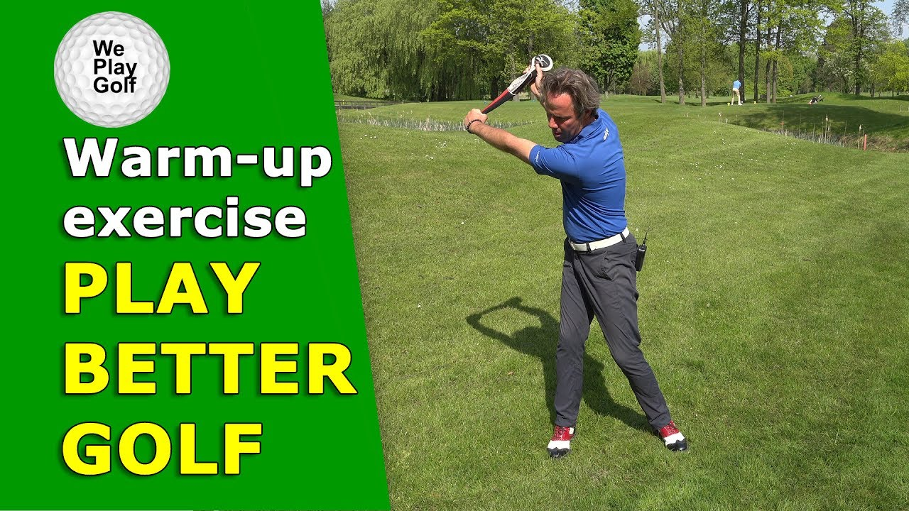Best warm-up exercise without hitting golfballs!
