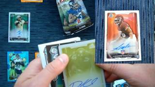 2015 Bowman Football Card Box Break, 5 Hits, 1 of 1
