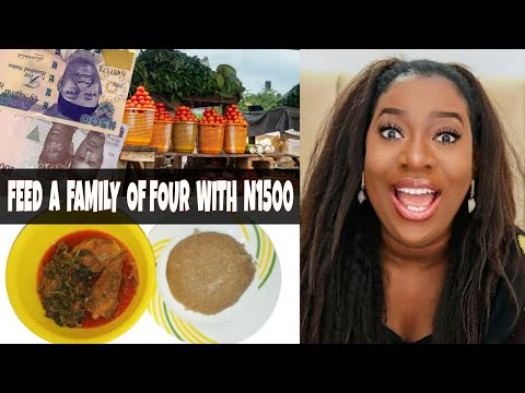 FEED A FAMILY OF FOUR WITH N1500 IN LAGOS NIGERIA | THE SISIYEMMIE COOKING CHALLENGE. @SisiYemmieTV