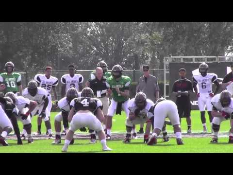 Christian Hackenberg All-American Bowl Practice video.