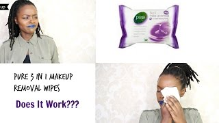 TESTING 'PURE' MAKEUP REMOVAL WIPES! BUY or BYE ||MdeiziMakeup