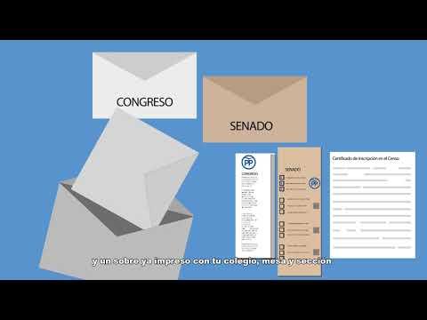 Voto por correo para la elecciones generales de 20...