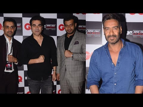 Ajay Devgn & Arbaaz Khan At The Launch Of MTV Supe