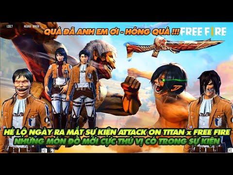 Free Fire| Hé lộ ngày ra mắt sự kiện Attack on Titan x Free Fire - Những món đồ cực ấn tượng