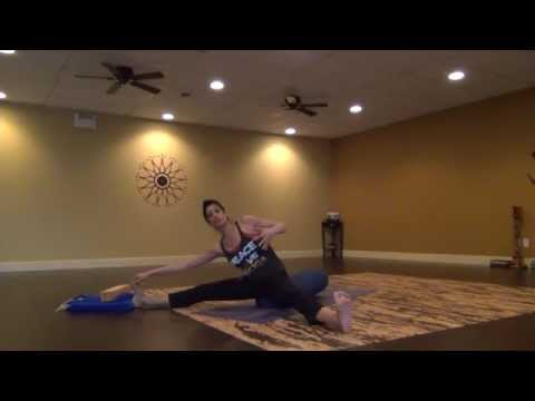 Gentle Yoga Stretching using a bolster with Becca Part 2