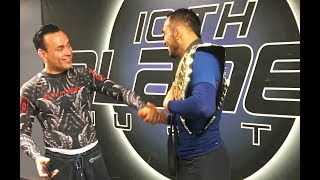 Eddie Bravo gives Tony Ferguson his Black Belt after becoming UFC Champion