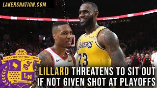 Damian Lillard Threatens To Sit Out If Not Given Shot At Playoffs, Lakers by Lakers Nation