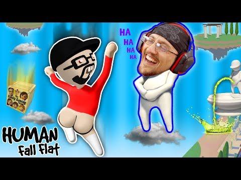 FUNNIER w/ BUTTS!  Super Weird Game: HUMAN FALL FLAT!  FGTEEV FLOPPY NERD Gameplay (видео)
