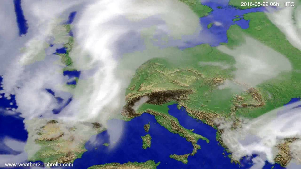 Cloud forecast Europe 2016-05-19