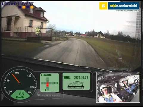 Wypadek przy 145 km/h Jurecki/Trela 6. Rajd Czechowicki