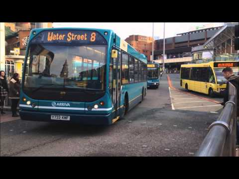 Buses In Liverpool - Queen Square Bus Station 20/12/14